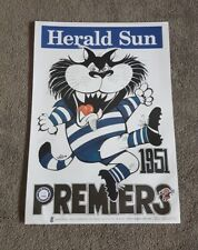 1951 GEELONG CATS PREMIERSHIP WEG POSTER LIMITED EDITION OUT OF 1000