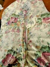 """Vintage large cotton chintz curtains ~ 51"""" long x 24"""" Wide ~ Not lined"""