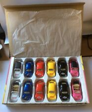 Welly VW Beetle 12 Cars In Box , New Old Stock , Nos , 90's Collectible Vintage