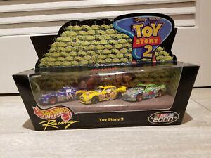 Hot Wheels Racing - Toy Story 2 - Nascar Racing 2000 Disney Pixar 3-Pack - BNIB