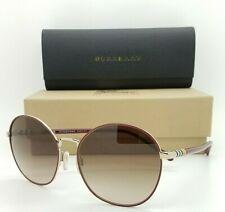 NEW Burberry Sunglasses BE3094 125613 56 Gold Bordeaux Brown Gradient AUTHENTIC