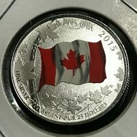 2015 CANADA $25 SILVER NATIONAL FLAG BRILLIANT UNCIRCULATED