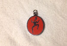 VINTAGE EARLY GIRL SCOUTS GIRL GUIDES BROWNIE DANCING ELF FAIRY Charm Pendant