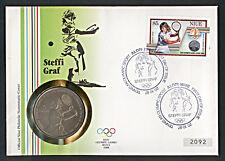 Numisbrief Niue Olympiade Seoul 1988 Tennis Graf Nr. 2092 Stempel 1987 NB-A4/40