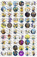 """60 Precut 1"""" Minions Bottle cap Images Set 2"""