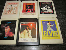 Lot of 6 Elvis 8 Track Tapes ~Burning Love~On Stage~