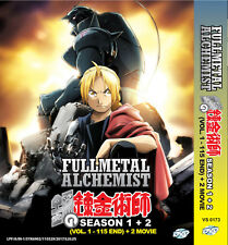 Anime DVD Fullmetal Alchemist Season 1 + 2 Episode 1-115 End + 2 Movie Eng Sub