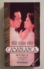 humphrey bogart CASABLANCA  VHS VIDEOTAPE magnetic video transamerica