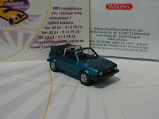 "Wiking 0046 04 - VW Golf I Cabrio Baujahr 1979 in "" oceanic blue metallic"" 1:87"