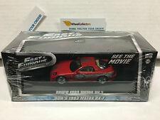 Fast & Furious * Dom's 1993 Mazda RX-7 * Greenlight 1:43 Scale * W