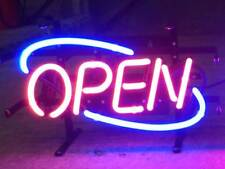 "New Open Sign Man Cave Neon Light Sign 17""x14"""