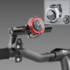 Alloy MOTORCYCLE CLOCK +TEMPERATURE - Silver - WATERPROOF - Luminous