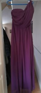 3x one shoulder burgandy bridesmaid dresses in sizes 12, 22, 22