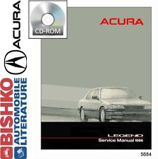 1986 Acura Legend Service Shop Repair Manual CD Engine Drivetrain Electrical OEM