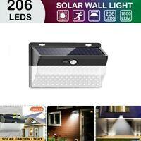 206 LED Solaire Extérieur Projecteur Lampe Capteur Lumière Mouvement Jardin