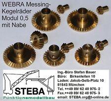 Webra Art.-Nr 3559//3 Schneckenrad 12 Zähne Modul 0,5 Bohrung 2 mm aus Messing