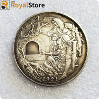 Hobo Nickels COINS hand carved art  coin gift free shipping & Return