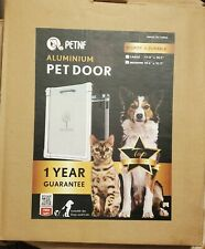 "Petnf Aluminum Pet Door size Medium 10.6""x12.9"" for cats & dogs New in pkg"