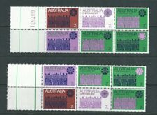 Australia 1971 Christmas 2 blocks of 6 with selvedge one w/control number Vf Mnh