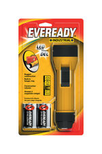 Energizer  35 lumens Black/Yellow  LED  Flashlight  D Battery