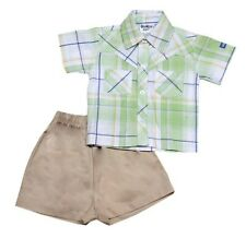 Oshkosh B'gosh Checkered Polo with Short Set (OCSS #8) - Size: 3 months
