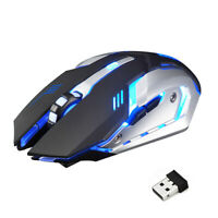Rechargeable Wireless USB Ergonomic Gaming X7 Mouse Mice 7-color Light Effect