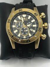 Invicta 0140 Men's Black Silicone Analog Black Dial Quartz Genuine Watch KS431