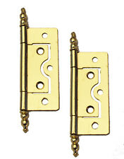 Brass Finish Decorative Finial Cabinet Butt Hinges (No.87-60mm)