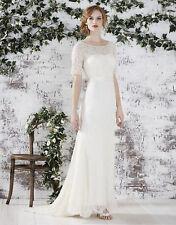 MONSOON Wedding Dress FARAH UK 14 16 Ivory Beaded Lace Vintage Style BNWT £499