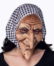 OLD WOMAN WITCH BAG LADY BABUSHKA HALLOWEEN FANCY DRESS MASK & HEADSCARF NEW