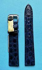 echt Kroko Uhrband 18mm  blau Deutscher Hersteller