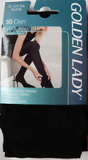 7b2dc8bf2 Golden Lady XL Size 50 Denier Soft Opaque Tights in Black