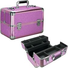Glitter Train Makeup Case with Four Extendable Trays and Lower Compartment by VB