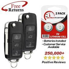 2 For 2002 2003 2004 2005 Volkswagen VW Beetle Keyless Remote Car Flip Key Fob
