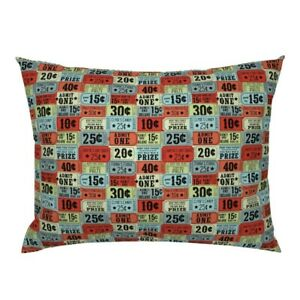 Vintage Circus Carnival Tickets State Pillow Sham by Roostery