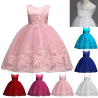 Flower Girl Princess Dress Kid Birthday Party Pageant Wedding Tulle Tutu Dresses