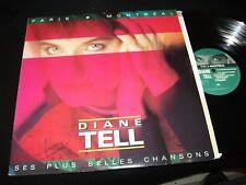 "DIANE TELL<>PLUS BELLES CHANSONS<>12"" Lp Vinyl~Canada Pressing~POLYDOR 831 777-1"