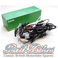 genuine lucas main wiring harness bsa a50 a65 models (1968) - lu54953385