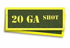 """20 GA SHOT Ammo Can Labels for Ammunition Case 3"""" x 1"""" sticker decals 2 PACK -AG"""
