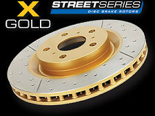 2x DBA DBA533X Street Gold Cross-drilled/slotted ROTOR FIT Ford Laser 90-00 F