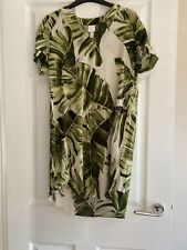H&m Leaf Print Kaftan Dress Size Xs Worn Once!