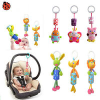 Baby Infant Rattles Plush Animal Stroller Music Hanging Bell Toys Doll Bed