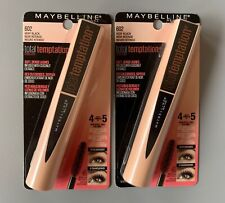 Lot Of 2-Maybelline-Total Temptation Mascara Very Black # 602. Brand New In Box.