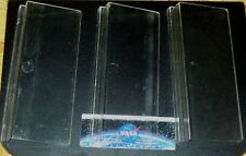 rare lot of 3 plastic angled display stands for vehicles cars, trucks tanks etc