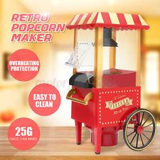 Retro Popcorn Maker Electric Hot Air Kitchen Pop Corn Popper Cooker Machine ❥
