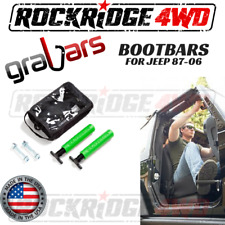Bootbars (Foot Pegs) by Grabars GREEN Jeep Wrangler YJ TJ LJ 87-06 USA MADE