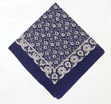 "HALSTUCH  KOPFTUCH  BANDANA ""PAISLEY blau"" 54 cm"