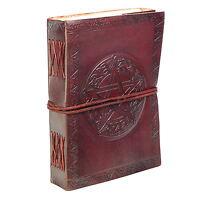 Fair Trade Handmade Eco Celtic Star Design Embossed Leather Journal Notebook