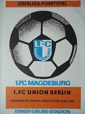 Programm 1983/84 1. FC Magdeburg - Union Berlin
