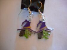 Ugly witch enamel earrings-wires